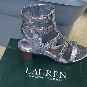Ralph Lauren Silver Metallic Sandals